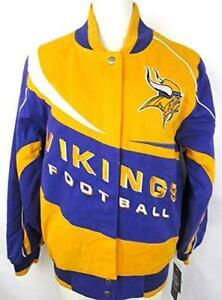 Minnesota Vikings Women's Size Medium Snap Up Cotton Jacket A1 969