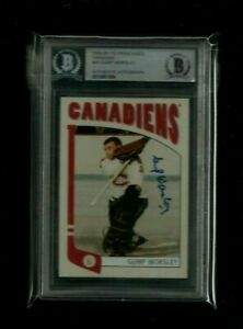 """Gump Worsley 2004-05 IN THE GAME """"FRANCHISES"""" Auto BAS Authentic! Canadiens HOF"""