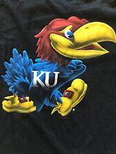 Fanatics~Kansas Jayhawks~T Shirt~Adult L~100% Cotton~Black~Unisex
