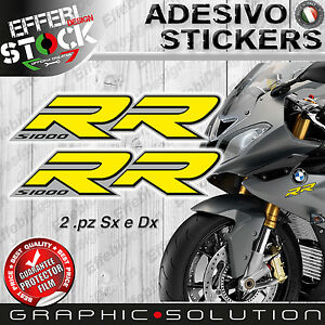 Stickers/Stickers Compatible BMW S SMALL 1000 RR 08-16 HP4 Motorcycle Yellow Top