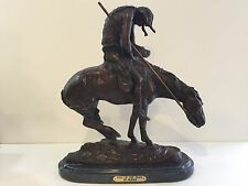 """""""End of the Trail"""" Pure Bronze Sculpture Statue by James E. Fraser, 18 1/2"""" Tall"""