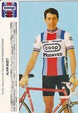 CYCLISME carte cycliste ALAIN BIZET équipe COOP HONVED ROSSIN 1984