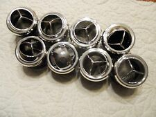 8X Chrome Round Tri-Vane A/C Heater Vent Outlet Louver for 2 1/2 in Hose-NEW-D27