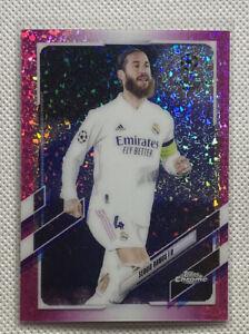 Sergio Ramos 2020-21 Topps Chrome UEFA Pink Mini Diamonds #77/175