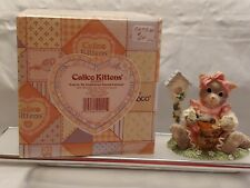 """Collectible Calico Kitten """"You're My Feathered Friend Forever"""" Enesco No 203971"""