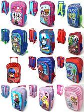 NUOVO Bambini Personaggio Deluxe Con Ruote Trolley Valigia-Back Pack, Borsa da viaggio