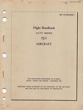 FJ-2 Fury Flight Handbook Flight Manual Flight Operating Instructions 1957 -CD-