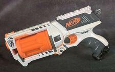 2004 NERF N-Strike Whiteout MAVERICK REV-6 Blaster w Darts RARE DISCONTINUED