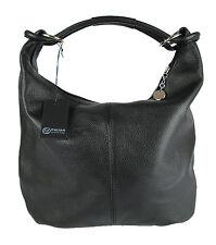 borsa da donna a sacca in vera pelle alta qualità made in italy FG nero<