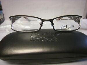 KAY UNGER   EYEGLASS  FRAME K138  BROWN   52-17-135 W/CASE  AUTHENTIC