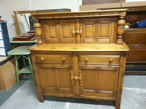 Ercol Blond Oak Court Cupboard