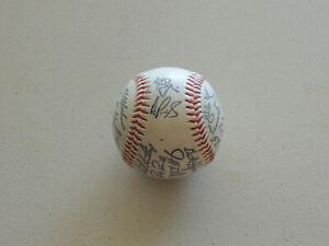 2001 St Louis Cardinals Team Printed Signed Baseball Albert Pujols RC