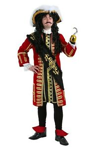 Adult Elite Captain Hook Pirate Peter Pan Costume SIZE XL (with defect)