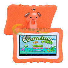 """Kids 7"""" Tablet PC 8GB Android Wifi Quad Core Educational Apps Orange"""