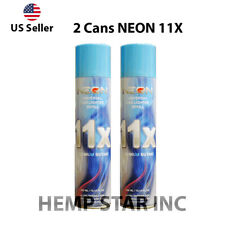 2 Cans Neon Butane Gas 300ml 11x Refined Filtered Lighter Refill Fuel