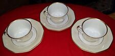 Vintage Heinrich & Co.  Colonial Pattern - Set of Three (3) Cups & Saucers