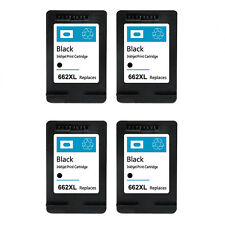 4 Pack for HP 662XL Black Ink Cartridge CZ105AL for Deskjet 1015 1515 2515 2545