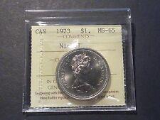 Canada nickel dollar 1973 business strike ICCS MS-65 nice cartwheel lustre