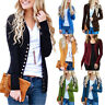 Womens Low Cut V-Neck Long Sleeve Knit Snap Button Down Cardigan Sweater Tops