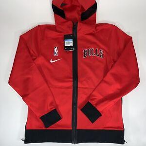 Nike NBA Chicago Bulls Showtime Nike Therma Flex Hoodie Green Size Md CN4016-657