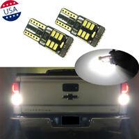 2Pcs 6000K White Backup Reverse Light Bulbs For Chevy Silverado Tahoe Suburan