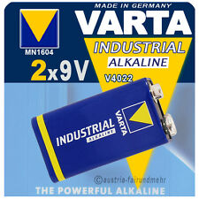 """""""2x VARTA Batterie 9Volt Block V4022 6LR61 INDUSTRIAL"""