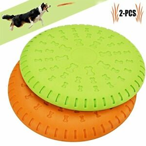 """Flying Disc 9"""" Dog Training Frisbee Toy 2 Pack for Medium and Large Dogs"""