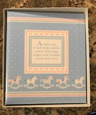 New Hallmark Baby Boy Refillable Photo Album 9 x 11 3 Ring Polypropylene Pages