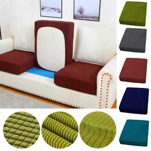 1/2/3/4 Seat Sofa Cushion Cover Stretchy Couch Slipcovers Replacement Protector
