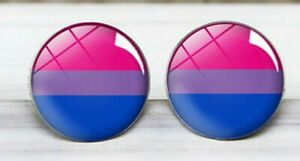 Bisexual Pride LGBT High Quality Stainless Steel Stud Earrings Unisex