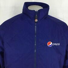Aramark Mens L Pepsi Cola Jacket Embroidery Employee Full Zip Nylon Fleece Lined