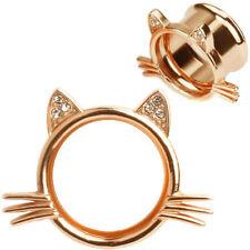 Ear gauges ear plugs gem Kitty Ears Whiskers ear tunnels 0,00,1/2,9/16,5/8,18,20