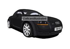 AUDI TT CAR ART PRINT PICTURE (SIZE A4). PERSONALISE IT!
