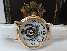 JUICY COUTURE Gold Tone White Leather Band Women's Watch - GREAT GIFT