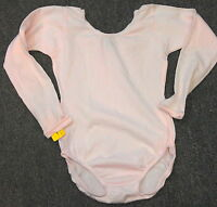 Capezio 134C Girl's Light Pink Large (12-14) Long Sleeve Leotard w/ Defects