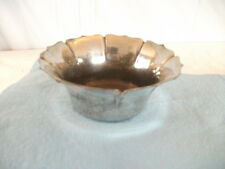 "Silver Plated Pewter Bowl marked ""A Pewter"" monogramed ""M"""