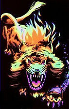ANGRY LION - BLACKLIGHT POSTER - 24X36 FLOCKED NATURE A-25A