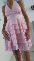 NEW ASOS PINK LAYER HALTERNECK DRESS Size 8, 10