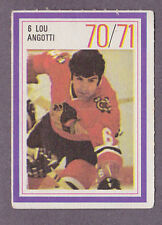1970-71 Esso Hockey Stamp Lou Angotti Chicago Black Hawks