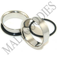 "0030 Steel Single Flare Flesh Tunnels Earlets Big Gauges 1-1/4"" Plugs 32mm PAIR"