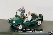 FANTOMAS  AUSTIN  MINI  MOKE  DE FUNES  CITROEN  DS  VROOM  UNPAINTED  KIT 1/43