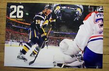 THOMAS VANEK -Buffalo Sabres 2010-2011 game night poster #2 -NHL hockey 10-11-10