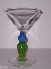 Richard Jolley BOMBAY SAPPHIRE CRYSTAL  MARTINI GLASS 1996 Multi-Color
