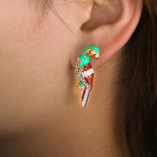 Alloy Trend Rhinestone Parrot Earrings Ear Studs Jewelry Fashion Accessories