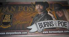 HUGE!!! Burns & Poe Dan Post Boots Promo Cloth Poster Banner