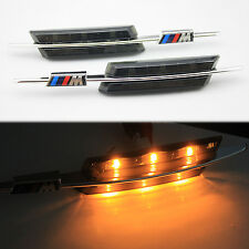 M LED Smoke Side Marker Lights Turn Signals FOR BMW E81 E88 E60 E61 E90 E91 E92