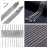 5-100pcs Wholesale Stainless Steel Silver Oval Cross Chain Necklace Jewelry16-40
