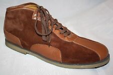 Bacco Bucci Brown Suede & Leather Lace Up Ankle Boots High Top Shoes Mens 11