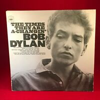 BOB DYLAN The Times They Are A-Changin' 1964 UK VINYL LP EXCELLENT CONDITION