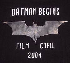 Batman Begins Film Crew T-Shirt XL American Roadshow Catering Comic Book Movie